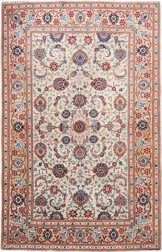"""Persian Keshan rug, 4' 5"""" x 6' 9"""""""