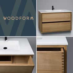 Snedker Bad Koncept møbel til dit Badeværelse Floating Nightstand, Vanity, Bathroom, Wood, Inspiration, Furniture, Kitchen, Design, Home Decor