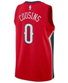 Nike Men s DeMarcus Cousins New Orleans Pelicans Statement Swingman Jersey  - Red Navy XXL c16553fe0