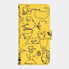 iPhone7ケース「毎日ネコ」(手帳型)