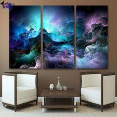 Buy Quality canvas art directly from China 3 piece canvas art Suppliers: ArtSailing wall painting HD Printed 3 piece canvas art abstract psychedelic art space cloud Painting wall art pieces print 3 Piece Canvas Art, 3 Piece Wall Art, Leaf Wall Art, Framed Wall Art, Wall Prints, Canvas Art Prints, Canvas Wall Art, Big Canvas, Painting Prints