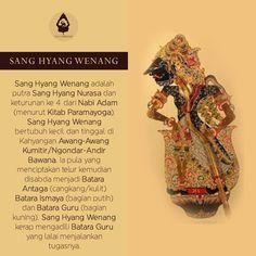 Nama Tokoh Wayang : Dewa Sang Hyang Wenang Javanese, Shadow Puppets, Ancient Art, Art Reference, Watercolor Art, Einstein, Philosophy, Bali, Singing