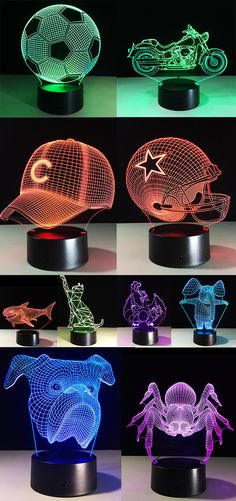3D Colorful Night Light For You