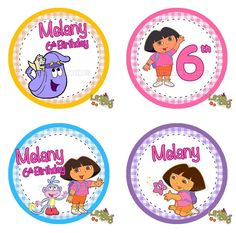 Personalized Dora birthday DVD I 3 my Lexi Pinterest