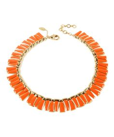 Look at this Gold & Orange Dream Island Necklace on #zulily today!