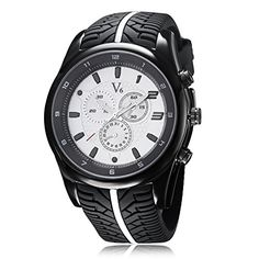 LinTimes Fashion Men watch Cool Tire silicone band White Clock sport Casual Wristwatch * You can get more details by clicking on the image. Sport Watches, Watches For Men, Men's Watches, White Clocks, Affordable Watches, Pretty Shirts, Sport Casual, Casio Watch, Quartz Watch