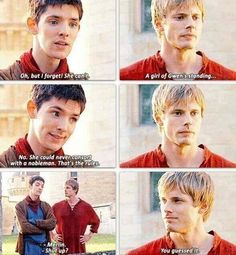 Discovered by Find images and videos about merlin, colin morgan and bradley james on We Heart It - the app to get lost in what you love. Merlin Memes, Merlin Funny, Merlin Fandom, Merlin Colin Morgan, Murdoch Mysteries, Merlin Cast, Merlin And Arthur, Nerd, Bradley James