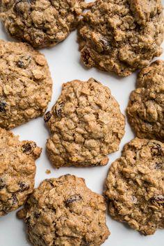 Gluten-Free Oatmeal Raisin Cookies (dairy-free, refined sugar-free)   saltedplains.com