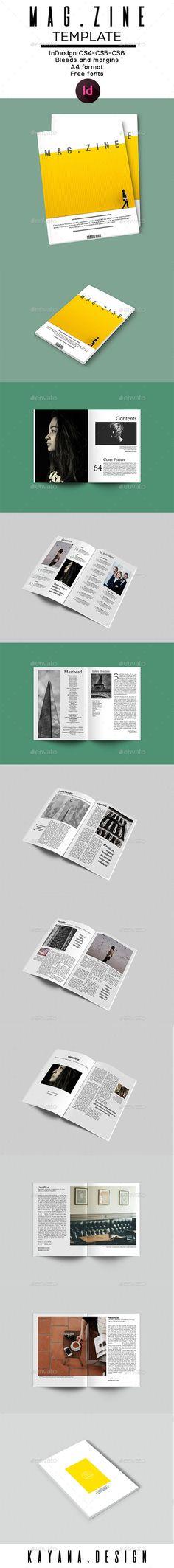 Mag.zine A4 Magazine Template - Brochures Print Templates
