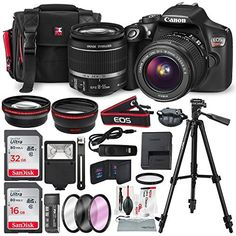 CANON EOS REBEL T6 DSLR CAMERA WITH EF-S 18-55MM F/3.5-5.6 IS II LENS, ALONG WITH 32 & 16GB SDHC, AND DELUXE ACCESSORY BUNDLE WITH XPIX CLEANING ACCESSORIES Comment below your experience and review for this product please