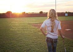Senior softball girl