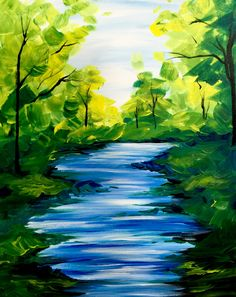 40 Ideas For Nature Paintings Acrylic Canvases Art Easy Nature Paintings, Easy Landscape Paintings, Scenery Paintings, Simple Acrylic Paintings, Beautiful Paintings, Landscape Art, Simple Landscape Drawing, Landscape Rocks, Acrilic Paintings