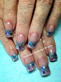 Bling Nails with Inlays