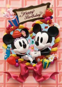 sisa 3Dポストカード バースデーパーティ S3573 ミッキー&ミニーマウス ディスニー