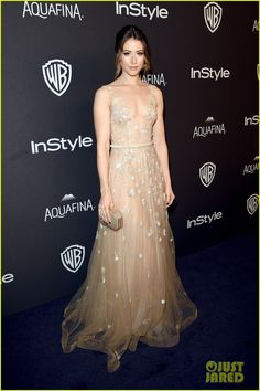 Nina Dobrev is Pretty in Pink at InStyle's Golden Globes Party 2016