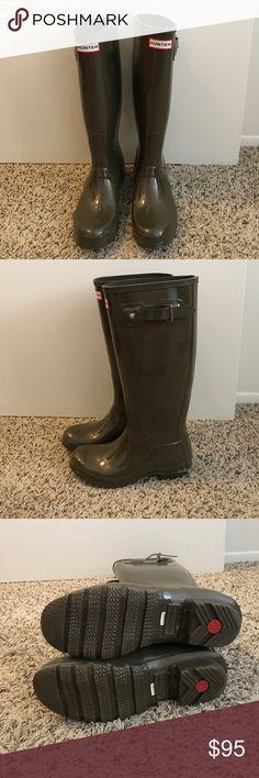 Hunter Army Green Rainboots Hunter Army Green Rainboots, Size 7, NEVER WORN! Hunter Boots Shoes Winter & Rain Boots
