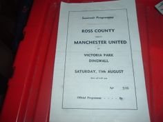 Ross County v Manchester Utd 1970's friendly programme