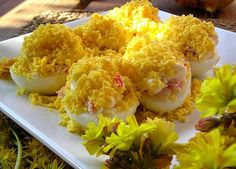 Receta de Huevos mimosa