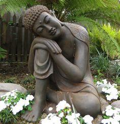 Exceptionnel Large Resting Garden Buddha Statue   Buddha Garden Statues Garden Statues