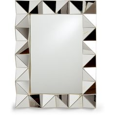Elico Ltd Silver-Tone Arena Mirror (115 RON) ❤ liked on Polyvore featuring home, home decor, mirrors, silver, flower mirror, triangle mirror, eglomise mirror, polished mirror and accent mirrors