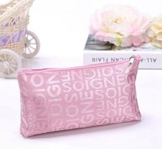 Women Travel Letter Cosmetic Bag Casual Makeup Case Zipper Make Up Bags Organizer Storage Pouch Toiletry Kit Wash Beauty Bags Travel Cosmetic Bags, Cosmetic Pouch, Cosmetic Items, Make Up Organizer, Casual Makeup, Small Makeup Bag, Makeup Case, Eye Makeup, Bag Organization