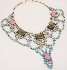XL bridal statement bib necklace 'Something by QueensOwnJewels, $149.99