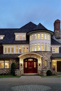 imagine coming home to this stone mansion/home