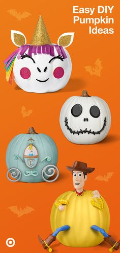 Get kids excited for Halloween with fall crafts & DIY pumpkin decorating kits in their favorite characters. Get kids excited for Halloween with fall crafts & DIY pumpkin decorating kits in their favorite characters. Halloween Crafts For Kids, Halloween Activities, Diy Halloween Decorations, Halloween Art, Holidays Halloween, Halloween Pumpkins, Fall Crafts, Pumpkin Decorations, Thanksgiving Crafts