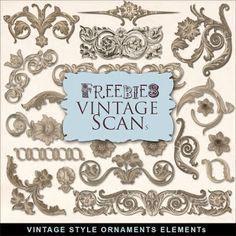 Far Far Hill: Freebies Kit of Vintage Style Ornament Elements
