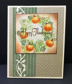 SC409 Pumpkin Wreath by hobbydujour - Cards and Paper Crafts at Splitcoaststampers