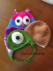 Ganchibearte: Gorros de invierno a Crochet