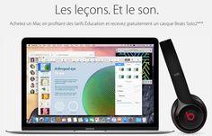 """La traditionnelle promotion de rentrée scolaire Apple """"Back to School"""" est confirmée et lancée en France et, comme pour les étudiants et leurs enseignants américains, l'Apple Store éducation offre aux élèves et leurs profs français un casque Beats Audio Solo 2 pour l'achat d'un ordinateur Mac. La promotion est la même, peu importe le modèle de Mac que vous achetez, Mac mini mis à part. - See more at…"""