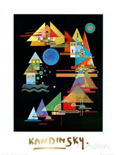 Spitzen In Bogen, c.1927 Poster van Wassily Kandinsky - bij AllPosters.be Wassily Kandinsky, Kandinsky Prints, Art Encadrée, Quilt Modernen, Art Moderne, Patch Quilt, Henri Matisse, Fabric Art, Oeuvre D'art