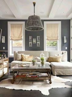 Grey wall.