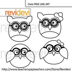 Free clip art. Cute owl line art. Great for coloring projects. Digital graphic image clipart resource for teachers pay teachers seller author. Perfect for coloring projects.DON'T FORGET TO RATE!You rating and comment is highly appreciated.These digital stamp cliparts are very useful for teachers and educators for creating their school and classroom projects such as for coloring page, games, and other learning sheets.