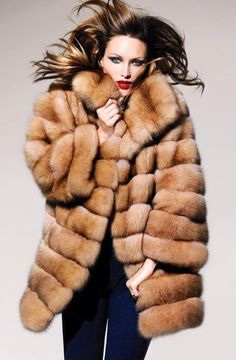 Russian Tortora Sable Fur Coat