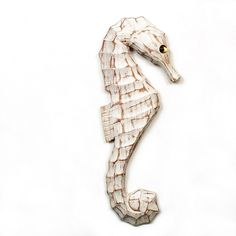 Design Wooden Seahorse Wall Art features a sleek, hand carved shape in white washed finish. Add artisanal and nautical flair to any room with this shapely accent. Features a metal wall hanger for easy display. Seahorse Nursery, Seahorse Painting, Seahorse Decor, Coastal Wall Art, Home Decor Wall Art, Nautical Bedroom, Bedding Shop, Wall Hanger, Metal Walls