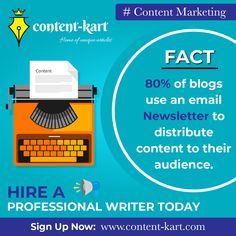 Hire a Professional Writer Today ✍🏻  👉🏻 𝐒𝐢𝐠𝐧 𝐔𝐩 𝐍𝐨𝐰: www.content-kart.com  ✅ Article Writing ✅ Email & Newsletters ✅ Product Descriptions ✅ Copy Writing & More  #marketing #contentmarketing #contentcreator #digitalmarketing #socialmedia #seo #branding #socialmediamarketing #video #youtube #blog #creative #instagood #digital #entrepreneur #media #gaming #follow #growthhacking Content Marketing, Social Media Marketing, Digital Marketing, Writing About Yourself, Email Newsletters, Article Writing, Writing Services, Copywriting, Seo