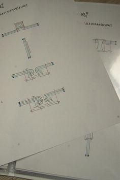 A4 arkille käsintehdyt poikkileikkauskuvat
