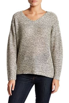 Elbow Patch V-Neck Sweater by RDI on @nordstrom_rack