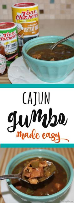 This Cajun Gumbo is SO DELISH and so easy to make! TablerPartyofTwo.com