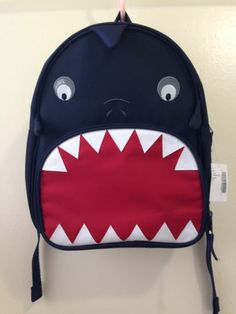 NEW Childrens Place Shark Toddler Boys Backpack Navy NWT TCP
