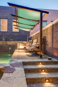 'Brownstone Spa' - Compact Outdoor Living by One Specialty