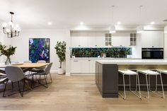 Stunning Sunday: Brand new weatherboard for sale in Essendon, Melbourne, VIC Hamptons Kitchen, The Hamptons, Dining Area, Kitchen Dining, Melbourne House, 4 Bedroom House, Building A House, Real Estate, House Design