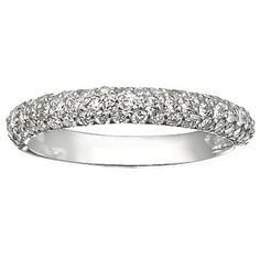 """It's not wrong to have found the perfect """"anniversary"""" band before you're even married, right? Right? (Now they better not discontinue it.)  Conflict-free 18K White Gold Pavé Diamond Multi Row Ring  with 0.6 ct.tw. Canadian-sourced diamonds"""