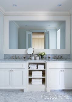 "Framed bathroom mirror:  ""Photo Gallery: 2010 Princess Margaret Showhome 