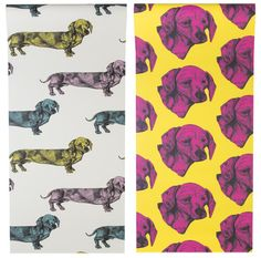Dog Patterned Wallpaper from Graduate Collection