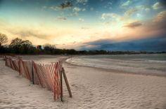 Evanston, Illinois beach sunset