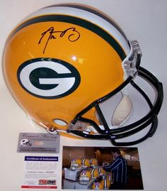 d8ff9e35d Aaron Rodgers Hand Signed Green Bay Packers Authentic Helmet - PSA DNA