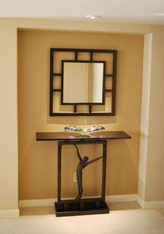 Art+deco+stenciled+entrance   With an art deco feel, this unique mirror and console table fit nicely ...